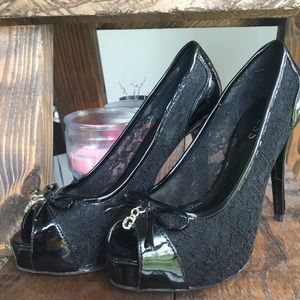 Guess Lacey Black Heels